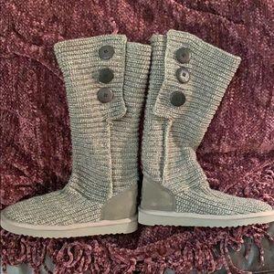 UGG classic Cardy knit grey size 7 BNWT